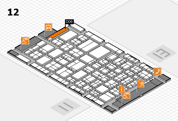 ProWein 2017 hall map (Hall 12): stand D06