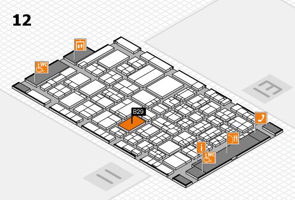 ProWein 2017 hall map (Hall 12): stand B29