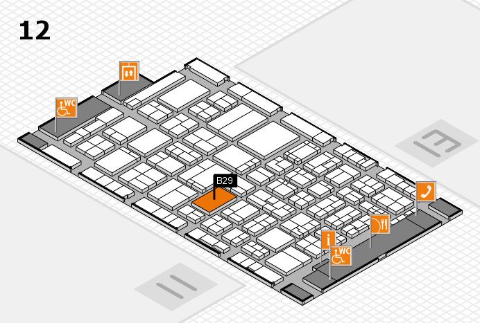 ProWein 2017 Hallenplan (Halle 12): Stand B29