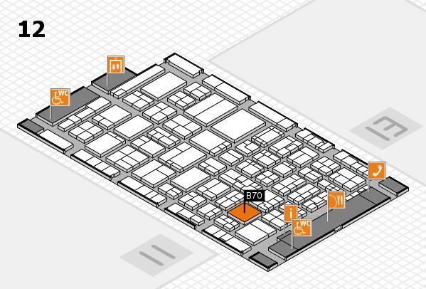 ProWein 2017 hall map (Hall 12): stand B70