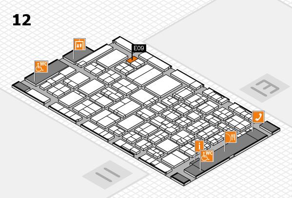ProWein 2017 Hallenplan (Halle 12): Stand E09