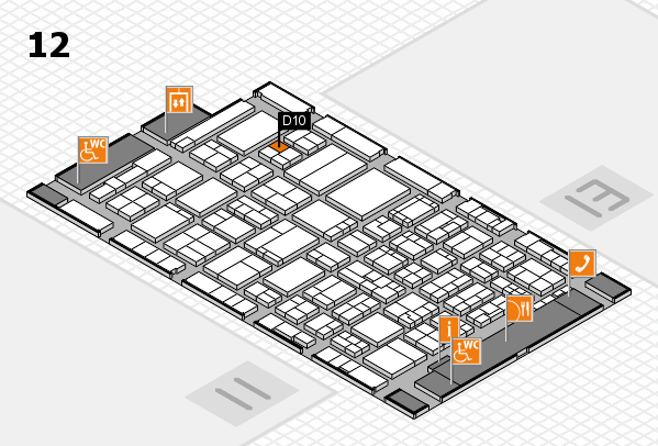 ProWein 2017 hall map (Hall 12): stand D10
