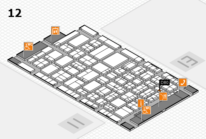 ProWein 2017 hall map (Hall 12): stand D80