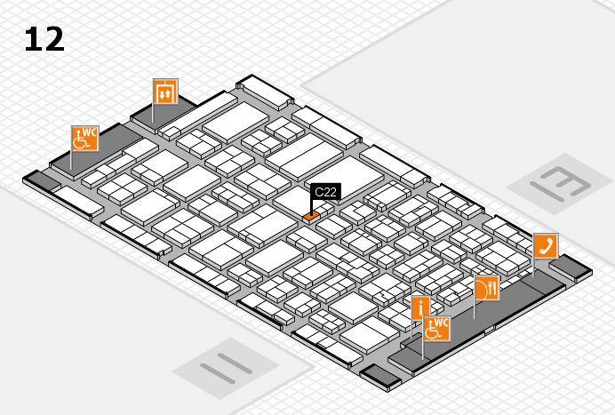 ProWein 2017 Hallenplan (Halle 12): Stand C22