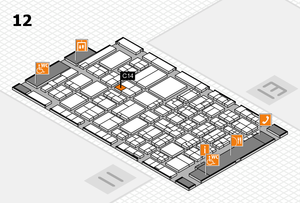 ProWein 2017 hall map (Hall 12): stand C14