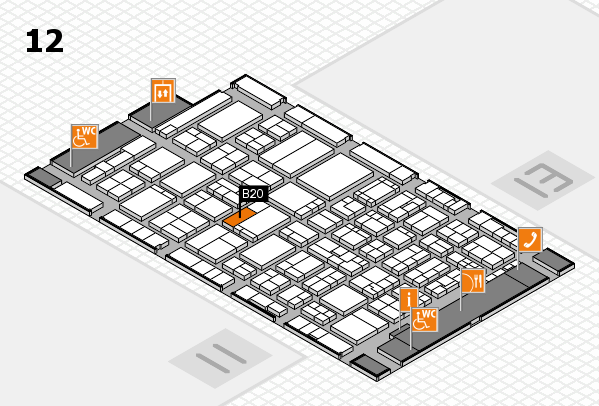 ProWein 2017 hall map (Hall 12): stand B20