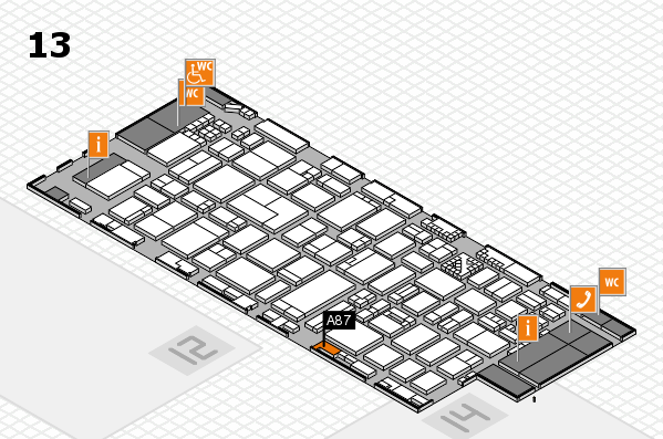 ProWein 2017 hall map (Hall 13): stand A87