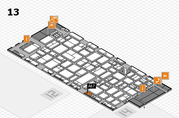 ProWein 2017 Hallenplan (Halle 13): Stand A87
