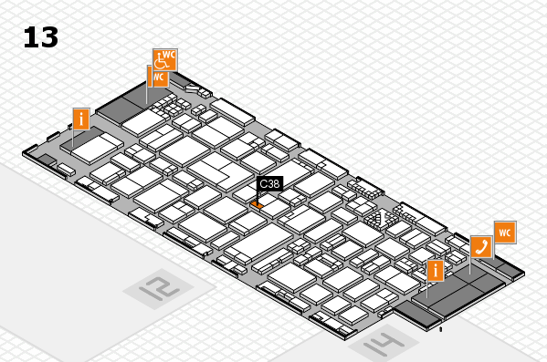 ProWein 2017 hall map (Hall 13): stand C38