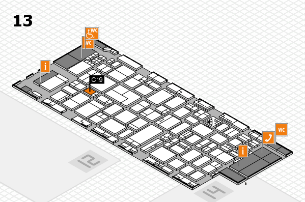 ProWein 2017 hall map (Hall 13): stand C19