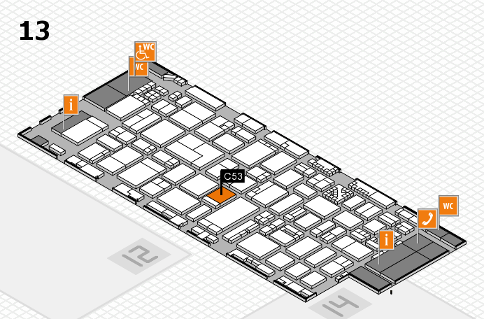 ProWein 2017 hall map (Hall 13): stand C53