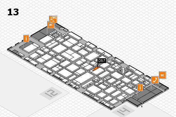 ProWein 2017 hall map (Hall 13): stand D57