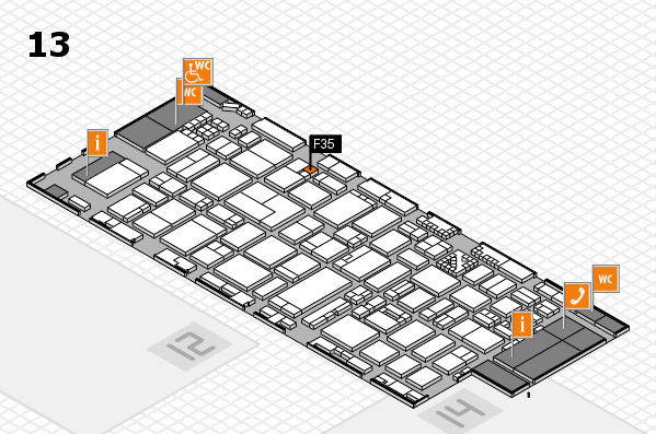 ProWein 2017 hall map (Hall 13): stand F35