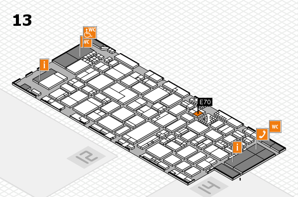 ProWein 2017 hall map (Hall 13): stand E70