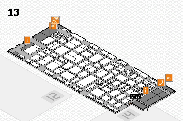 ProWein 2017 hall map (Hall 13): stand C127