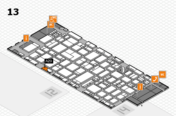 ProWein 2017 hall map (Hall 13): stand A29