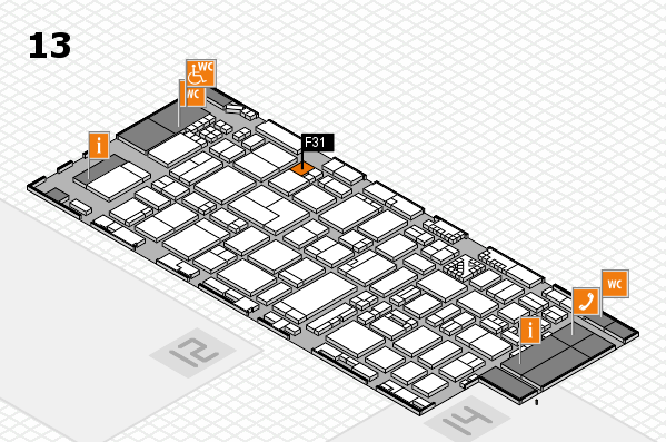 ProWein 2017 hall map (Hall 13): stand F31