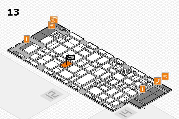 ProWein 2017 Hallenplan (Halle 13): Stand C39
