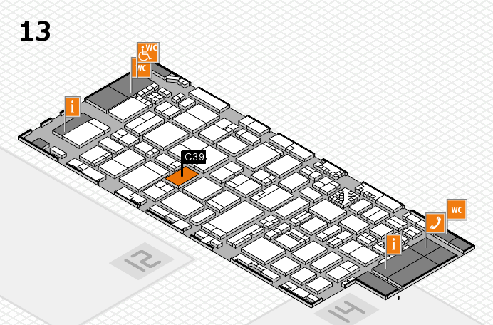 ProWein 2017 hall map (Hall 13): stand C39