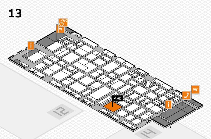ProWein 2017 Hallenplan (Halle 13): Stand A90