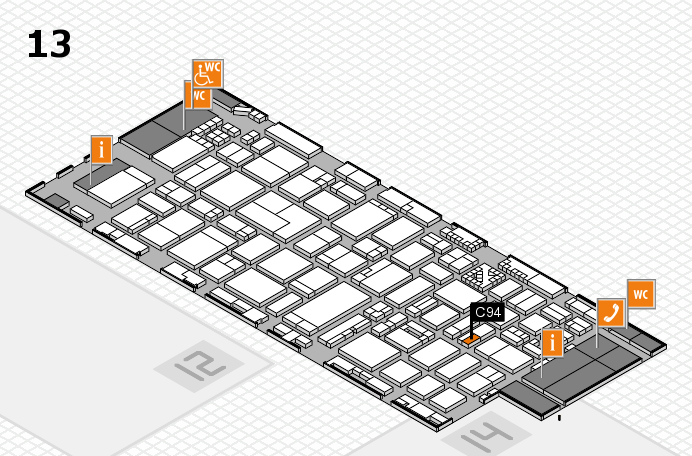 ProWein 2017 hall map (Hall 13): stand C94