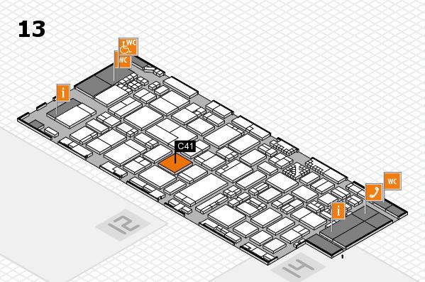 ProWein 2017 Hallenplan (Halle 13): Stand C41