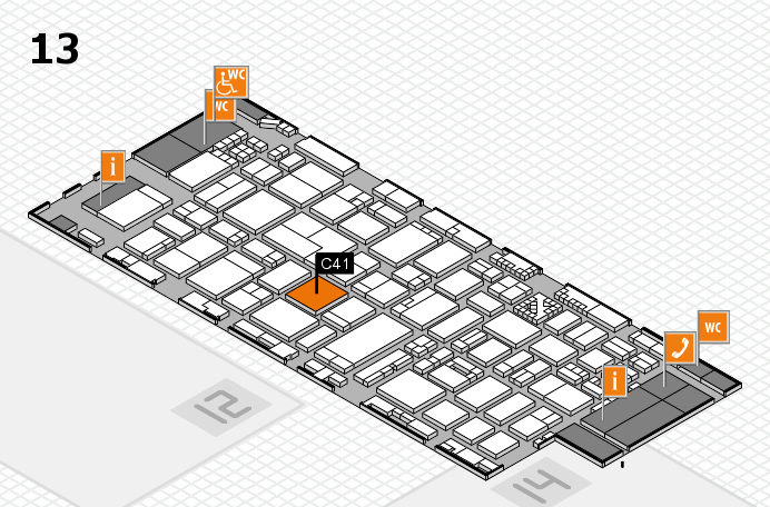 ProWein 2017 hall map (Hall 13): stand C41