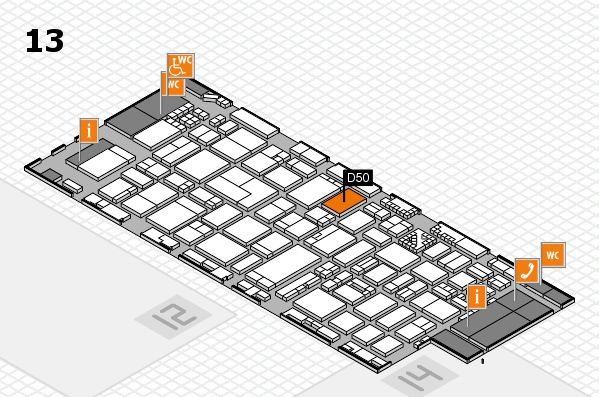 ProWein 2017 hall map (Hall 13): stand D50