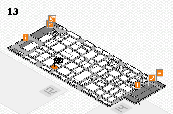 ProWein 2017 hall map (Hall 13): stand A40
