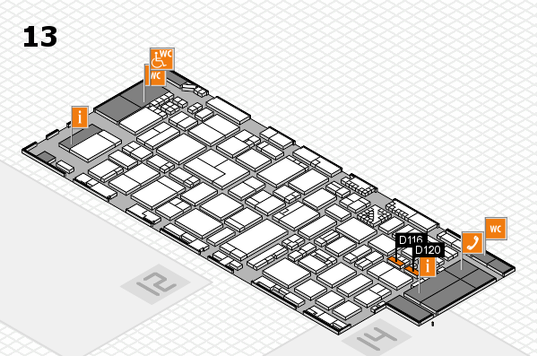 ProWein 2017 hall map (Hall 13): stand D116, stand D120