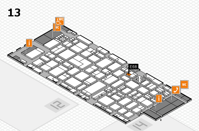 ProWein 2017 hall map (Hall 13): stand ED72
