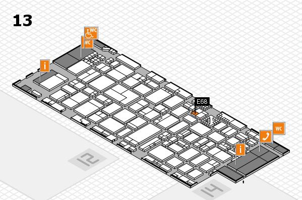 ProWein 2017 hall map (Hall 13): stand E68
