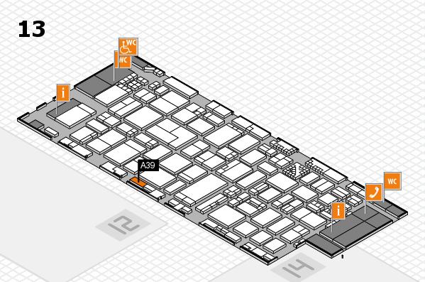 ProWein 2017 Hallenplan (Halle 13): Stand A39