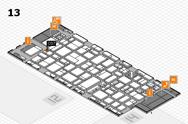 ProWein 2017 hall map (Hall 13): stand C07