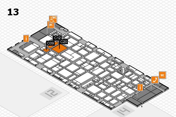 ProWein 2017 Hallenplan (Halle 13): Stand C09, Stand C20
