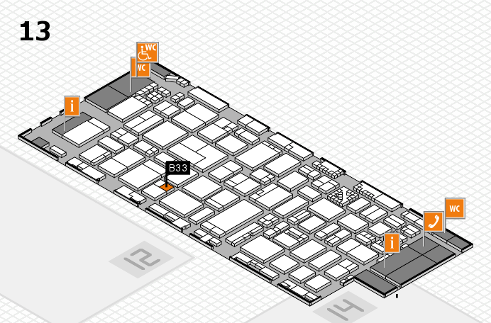 ProWein 2017 hall map (Hall 13): stand B33