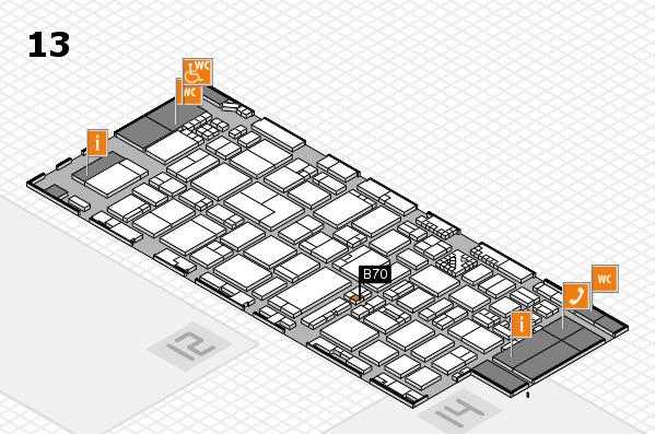ProWein 2017 hall map (Hall 13): stand B70