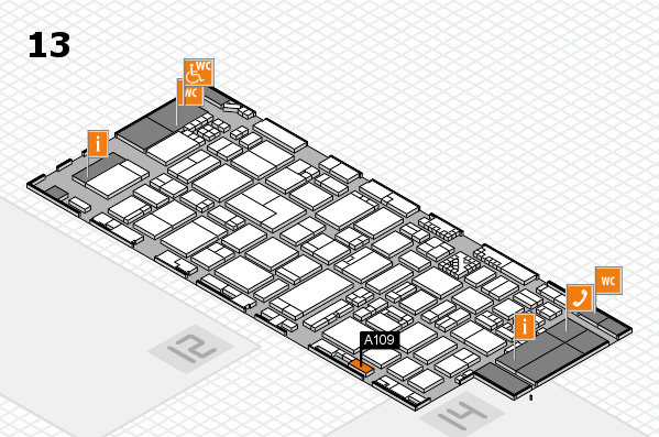 ProWein 2017 hall map (Hall 13): stand A109
