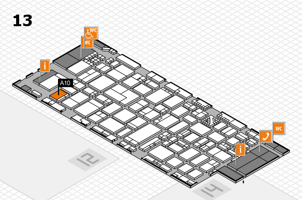ProWein 2017 hall map (Hall 13): stand A10