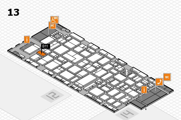 ProWein 2017 Hallenplan (Halle 13): Stand B11