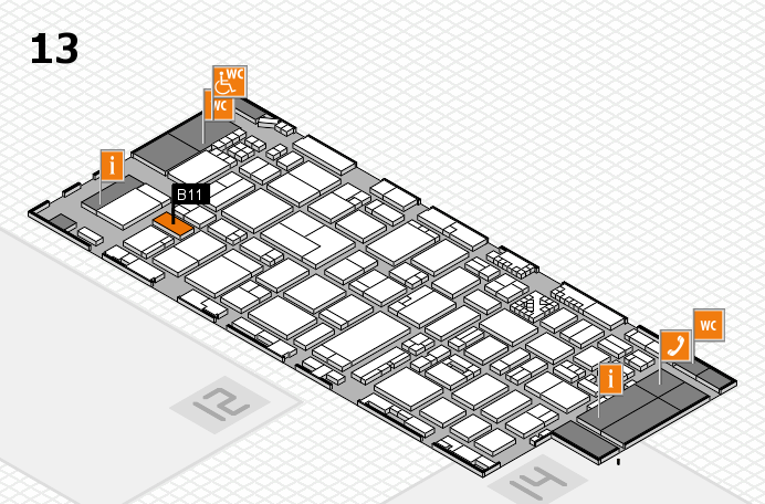 ProWein 2017 hall map (Hall 13): stand B11