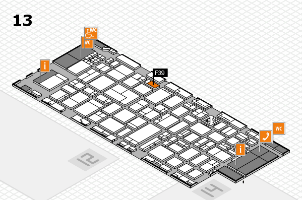 ProWein 2017 hall map (Hall 13): stand F39
