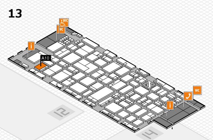 ProWein 2017 Hallenplan (Halle 13): Stand A10