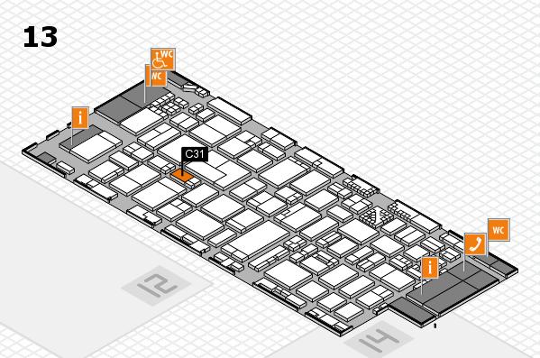 ProWein 2017 Hallenplan (Halle 13): Stand C31