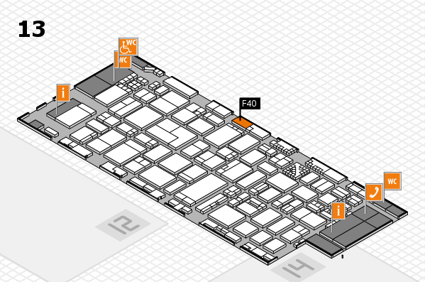 ProWein 2017 hall map (Hall 13): stand F40