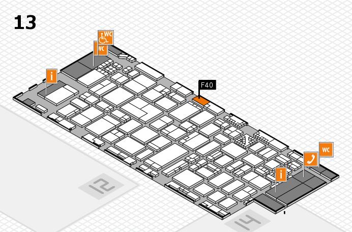 ProWein 2017 Hallenplan (Halle 13): Stand F40
