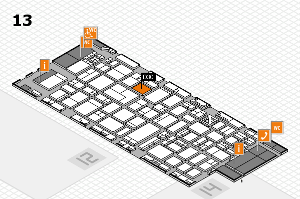 ProWein 2017 hall map (Hall 13): stand D30