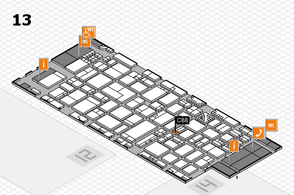ProWein 2017 hall map (Hall 13): stand C88