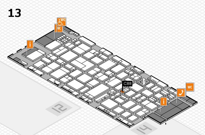 ProWein 2017 Hallenplan (Halle 13): Stand C88
