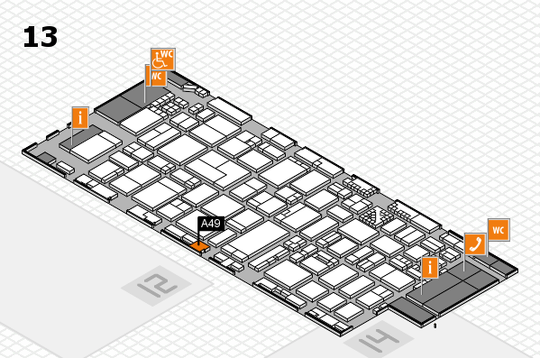 ProWein 2017 hall map (Hall 13): stand A49